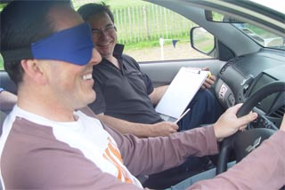 Driving with a blindfold